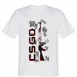 Мужская футболка CSGO and gun