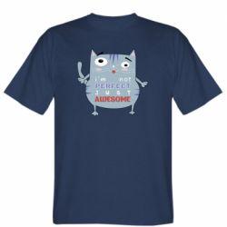 Мужская футболка Cute cat and text