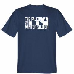 Чоловіча футболка Falcon and winter soldier logo