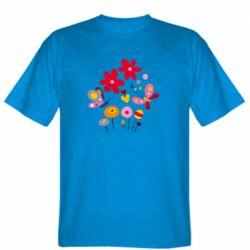 Мужская футболка Flowers and Butterflies