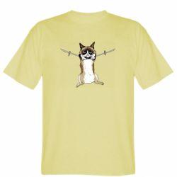 Мужская футболка Grumpy Cat On The Rope