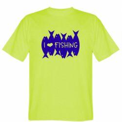 Чоловіча футболка I Love Fishing