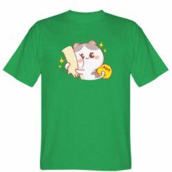 Чоловіча футболка Кішка тримає руку