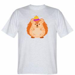 Чоловіча футболка Little hedgehog in a hat