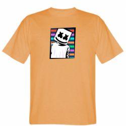 Мужская футболка Marshmello Colorful Portrait