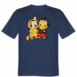 Мужская футболка Mickey and Pikachu
