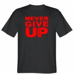 Чоловіча футболка Never give up 1