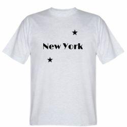 Мужская футболка New York and stars