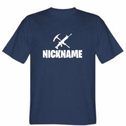 Чоловіча футболка Nickname fortnite weapons