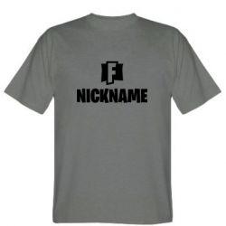 Мужская футболка Nickname fortnite
