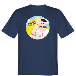 Чоловіча футболка Пара козак і козачка.