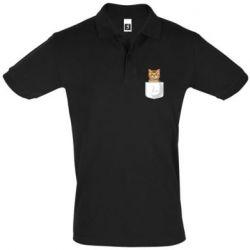Мужская футболка поло Cat in your pocket