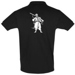 Мужская футболка поло Cossack with a gun