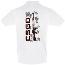 Мужская футболка поло CSGO and gun