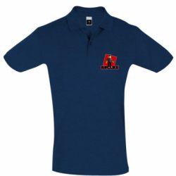 Мужская футболка поло Roblox Builderman