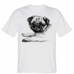 Чоловіча футболка Pug drawing
