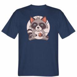 Чоловіча футболка Raccoon with cookies