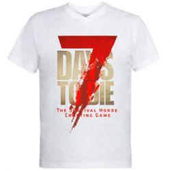 Чоловіча футболка з V-подібним вирізом 7 Days To Die