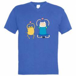 Чоловіча футболка з V-подібним вирізом Adventure time