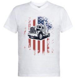Чоловіча футболка з V-подібним вирізом American Truck