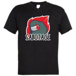 Чоловіча футболка з V-подібним вирізом Among Us Sabotage