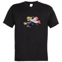 Чоловіча футболка з V-подібним вирізом Attacking Minato