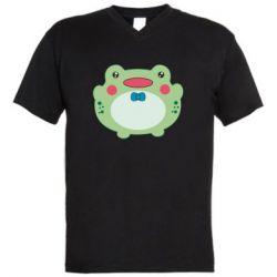 Чоловіча футболка з V-подібним вирізом Baby frog