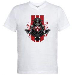 Чоловіча футболка з V-подібним вирізом Bloodhound Art