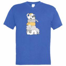 Чоловіча футболка з V-подібним вирізом Cats