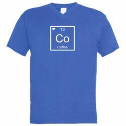 Чоловіча футболка з V-подібним вирізом Co coffee