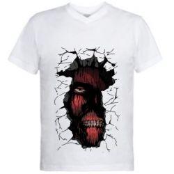 Чоловіча футболка з V-подібним вирізом Colossal titan