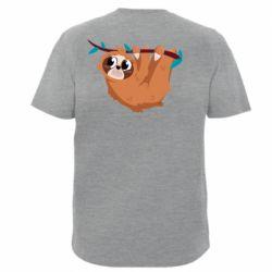 Чоловіча футболка з V-подібним вирізом Cute sloth