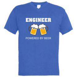 Чоловіча футболка з V-подібним вирізом Engineer Powered By Beer