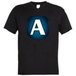 Чоловіча футболка з V-подібним вирізом Форум Антиколлектор Лого Минимал