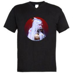 Чоловіча футболка з V-подібним вирізом Genshin Impact Ningguang