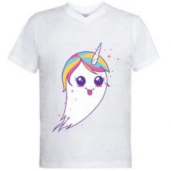 Чоловіча футболка з V-подібним вирізом Ghost Unicorn