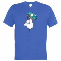 Чоловіча футболка з V-подібним вирізом Glove and donut