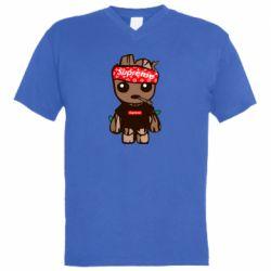 Мужская футболка  с V-образным вырезом Groot smokes
