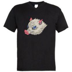 Чоловіча футболка з V-подібним вирізом Hashibira Inosuke