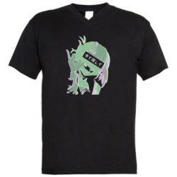 Чоловіча футболка з V-подібним вирізом Himiko Toga glitch
