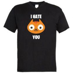 Чоловіча футболка з V-подібним вирізом I hate you