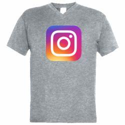 Чоловіча футболка з V-подібним вирізом Instagram Logo Gradient