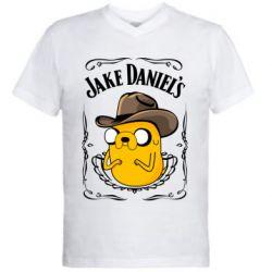 Чоловіча футболка з V-подібним вирізом Jack Daniels Adventure Time