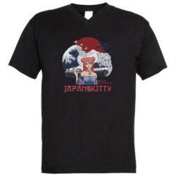 Чоловіча футболка з V-подібним вирізом Japan Kitty