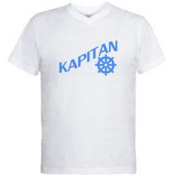 Чоловіча футболка з V-подібним вирізом KAPITAN