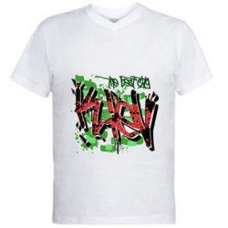 Мужская футболка  с V-образным вырезом Kiev graffiti