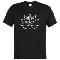 Чоловіча футболка з V-подібним вирізом Lotus yoga