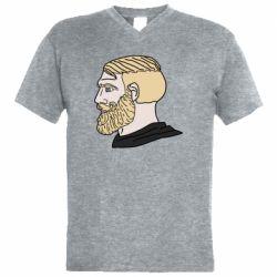 Чоловіча футболка з V-подібним вирізом Meme Man Nordic Gamer
