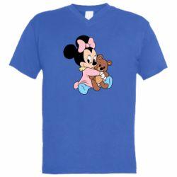 Чоловіча футболка з V-подібним вирізом Minnie And Bear