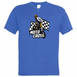 Мужская футболка  с V-образным вырезом Motocross